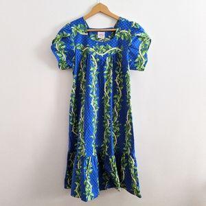 Vtg Kalena Fashions Hawaiian Muumuu House Dress S